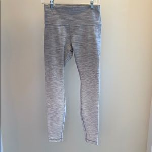 NEVER WORN Lululemon stripped pants (full length)